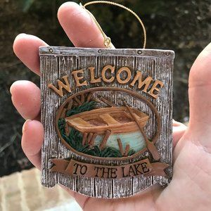 Welcome to the Lake Ornament Christmas New Wall
